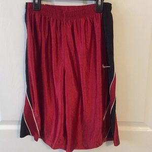 Nike shorts.Red and black.